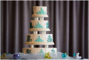 Under the sea themed wedding cake. Hotel Maya, Long Beach, CA
