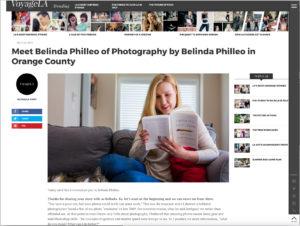 Belinda Philleo featured on Voyage LA Magazine