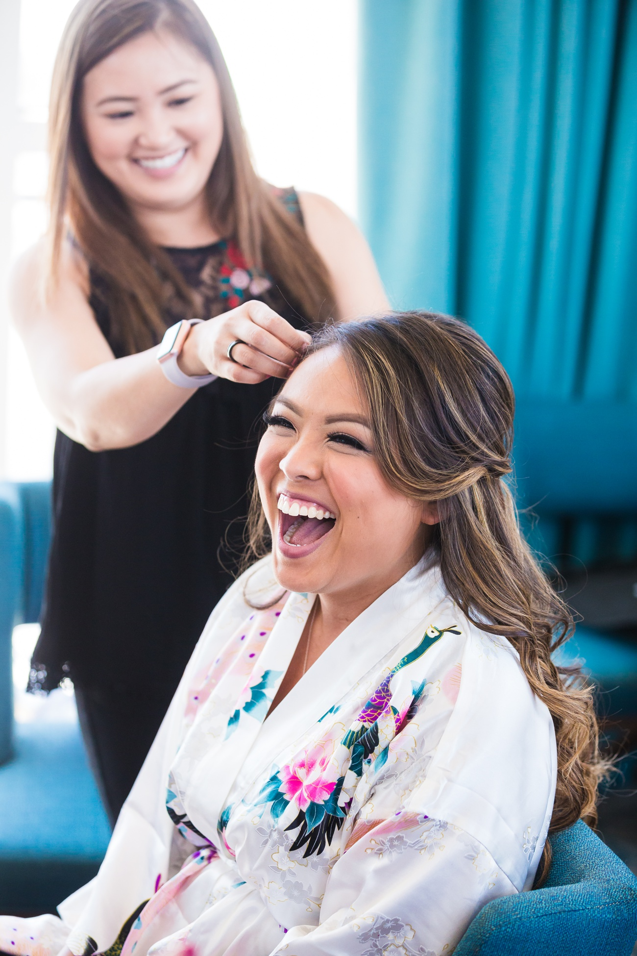Luong Lasting Hair and Makeup team get's the bride ready for the big day
