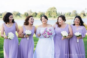 Lavender bridesmaid gowns. Purple wedding inspiration