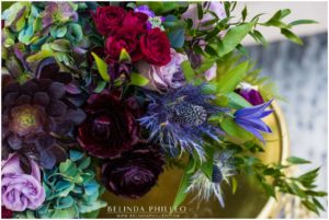 black ranunculus bridal bouquet created by The Bloom of time Florist in California