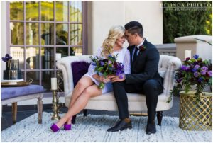 Black and purple wedding inspiration by Kimberly Persons and Belinda Philleo