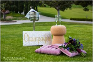 Champagne wedding decor