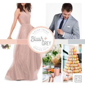 Blush and Grey Spring 2018 Wedding Inspiration
