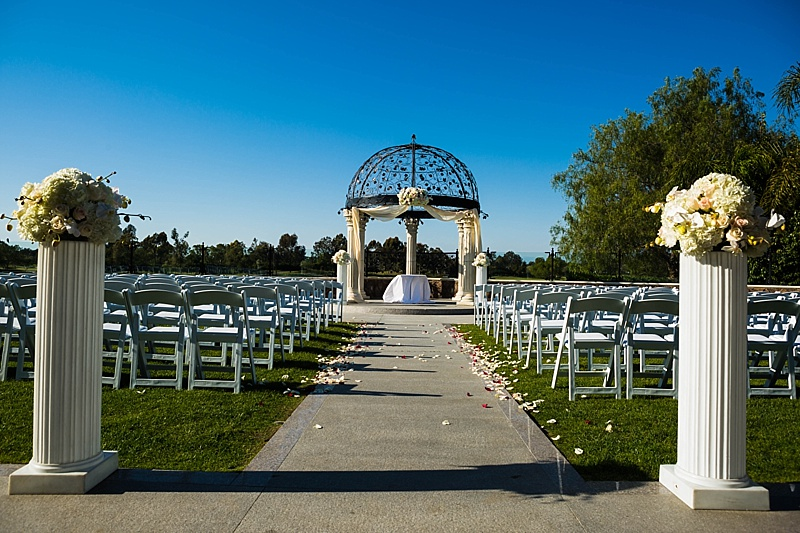 Wedding Ceremony site for Old Ranch Country club Wedding, Seal Beach, CA