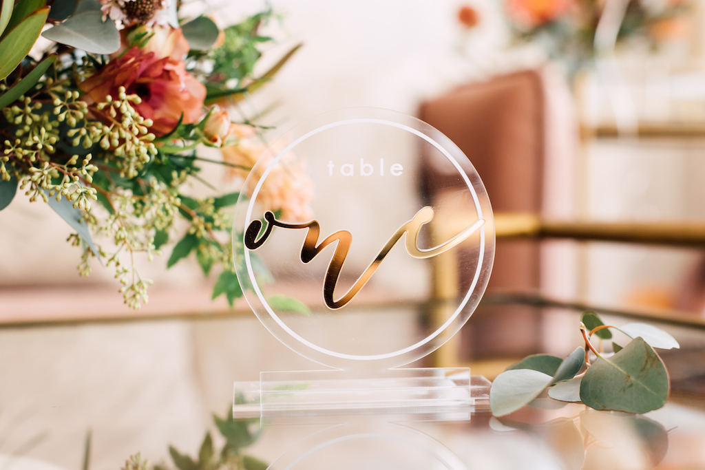 sophisticated table numbers for weddings and events