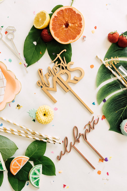 Laser cut signage and decor for bridal showers