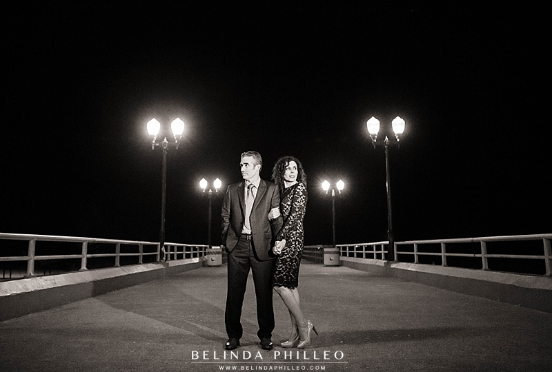 Seal Beach Pier. Anniversary photos in Seal Beach, CA by Orange County Photographer Belinda Philleo