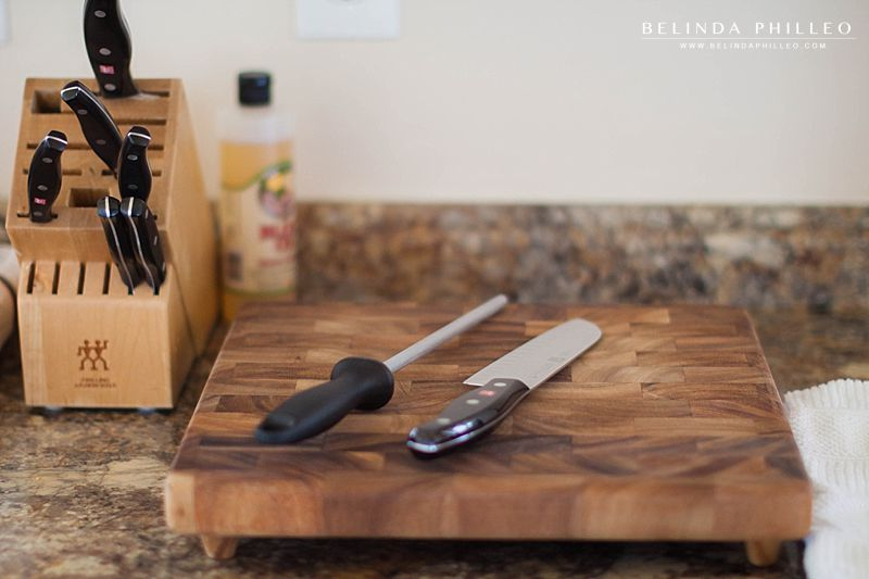 Wedding registry items J.A. Henkels Knives and wood block cutting board