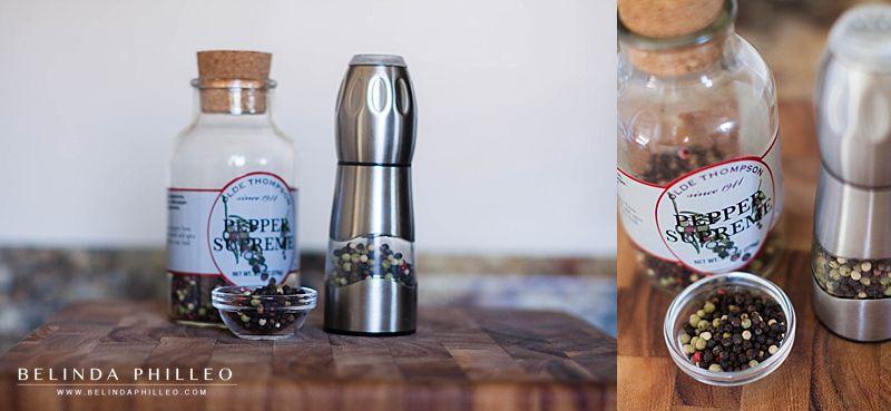 pepper grinder and pepper corns