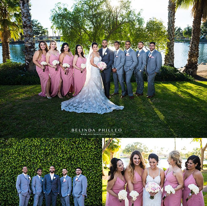 Bridal party at Casa De Lago Wedding in Orange, CA