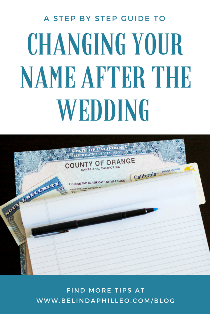 How to change your name after your wedding