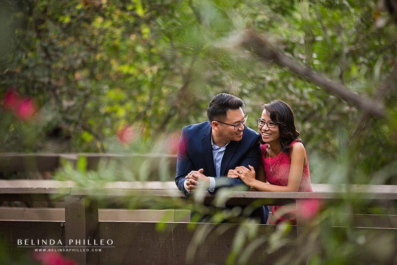 Romantic Oak Canyon Nature Center Engagement photos by Belinda Philleo