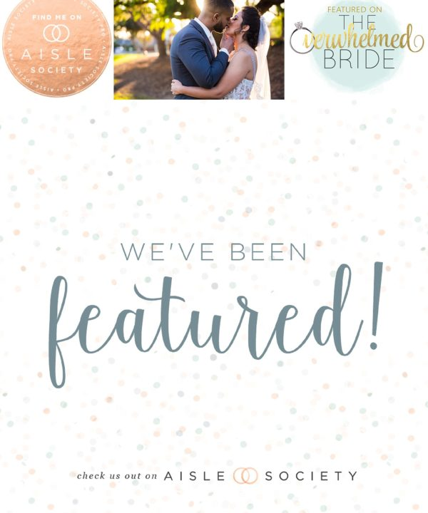 I've Been Featured on The Overwhelmed Bride blog