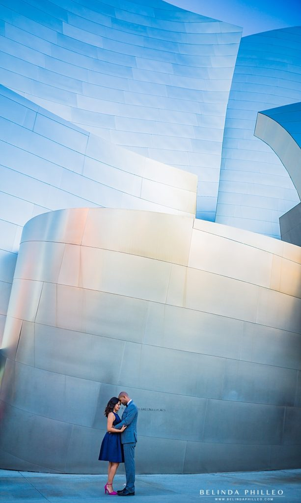 How to Choose a Location for Your Engagement Session | Engagement photos at Walt Disney Concert Hall, DTLA