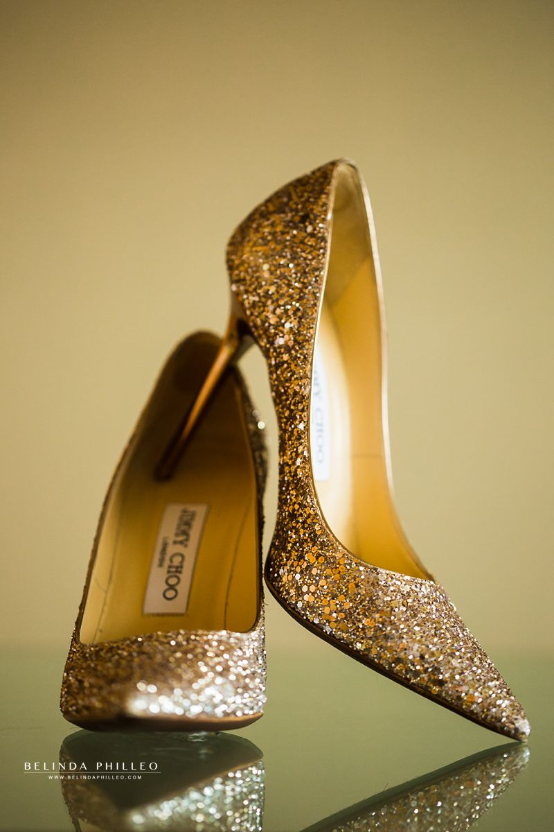 Gold Glitter Jimmy Choo shoes