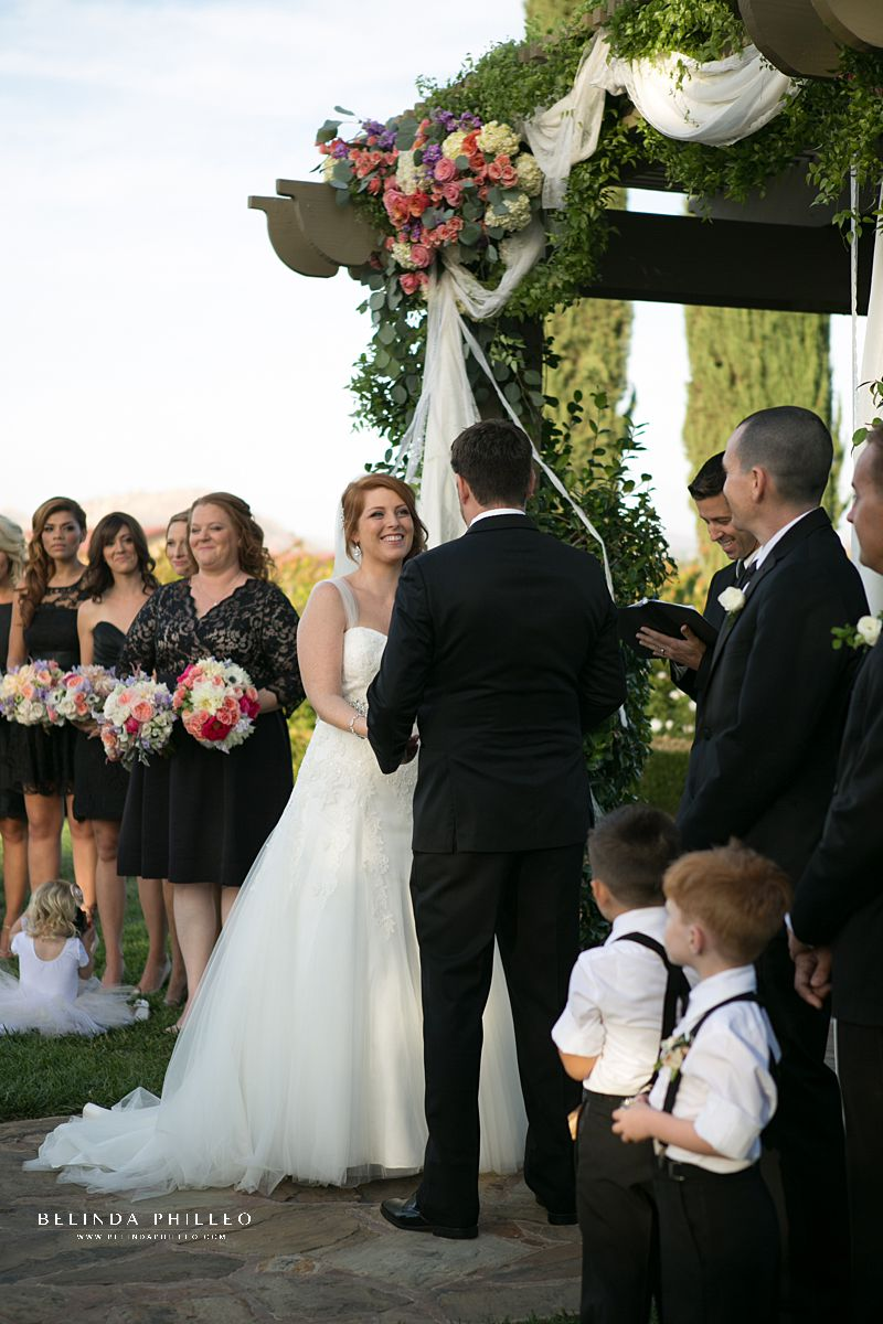 Wedding Ceremony in The Vinyeard Garden at Ponte Winery in Temecula, CA