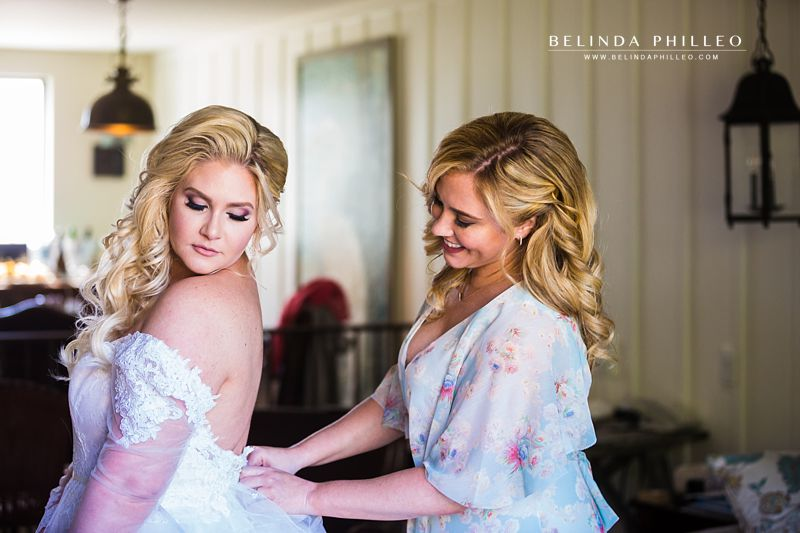 Bride gets ready in the bridal suite at The Ranch at Laguna Beach