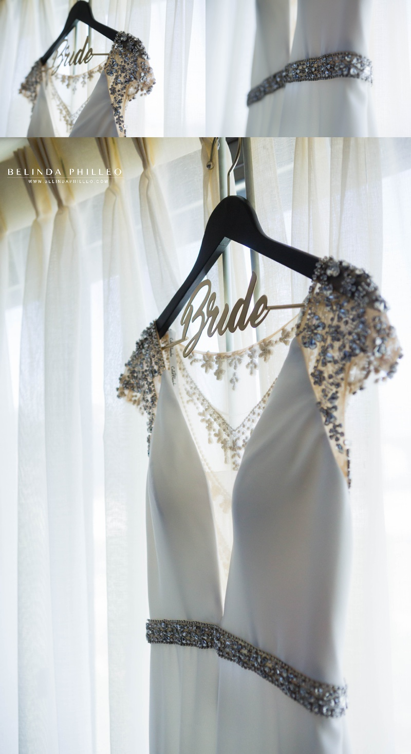 Calla Blanche jewel encrusted cap sleeve bridal gown style number 18112