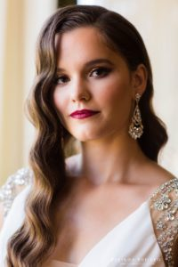Hollywood Glam bridal hair and makeup by Veronica Fensel