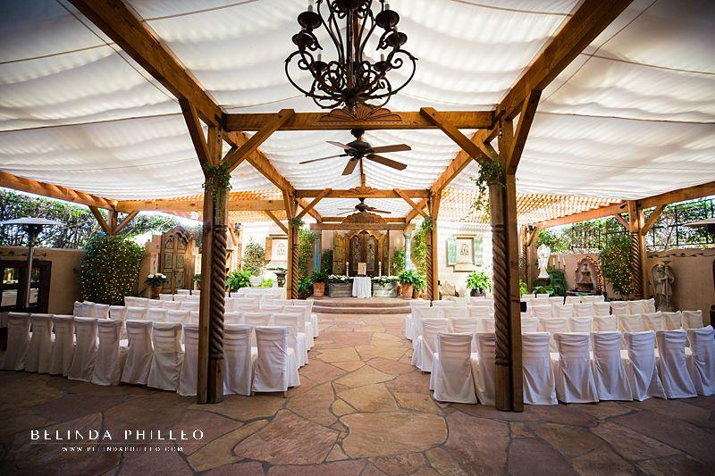 Ceremony site at The Hacienda Santa Ana Wedding Venue
