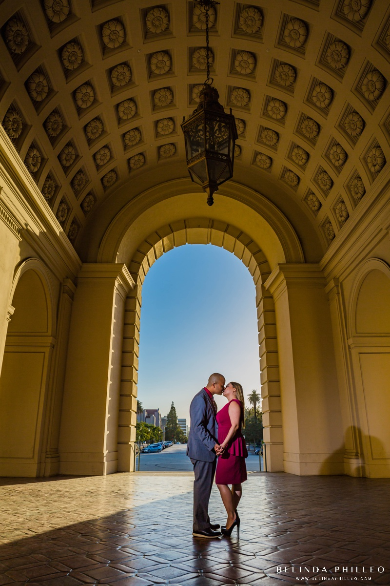Pasadena City Hall Engagement photography by Belinda Philleo