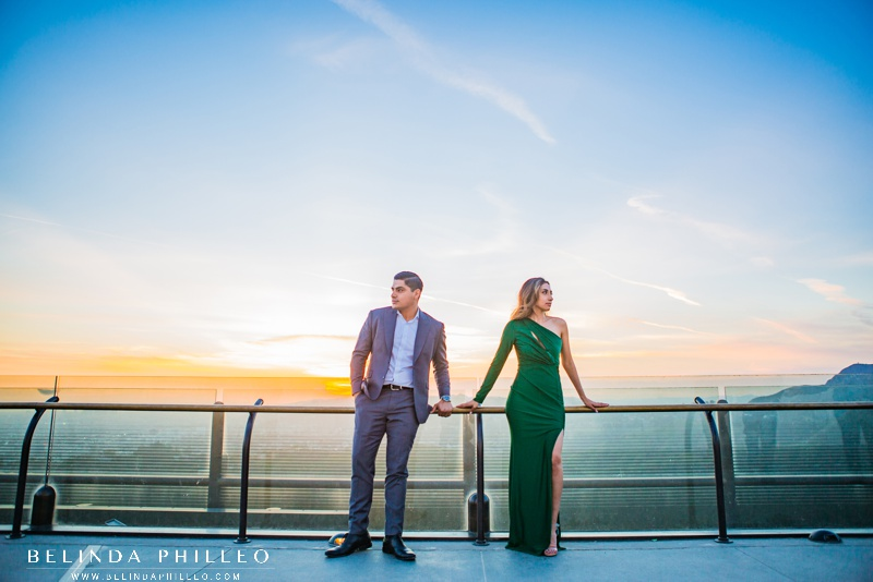 Griffith Observatory engagement photos at sunset