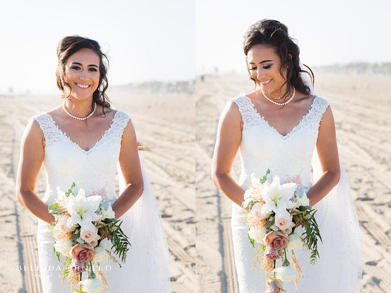 Bride portraits by Huntington beach wedding photographer Belinda Philleo
