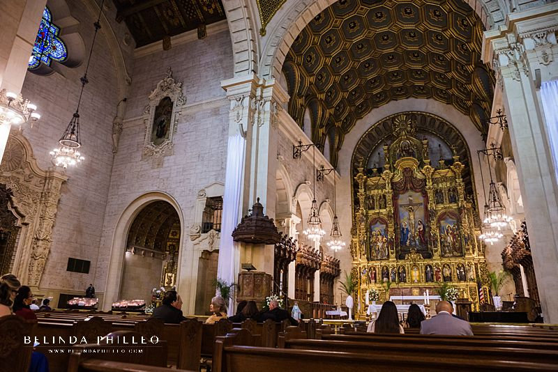 Wedding Ceremony at St Vincent de Paul Cathedral in Los Angeles