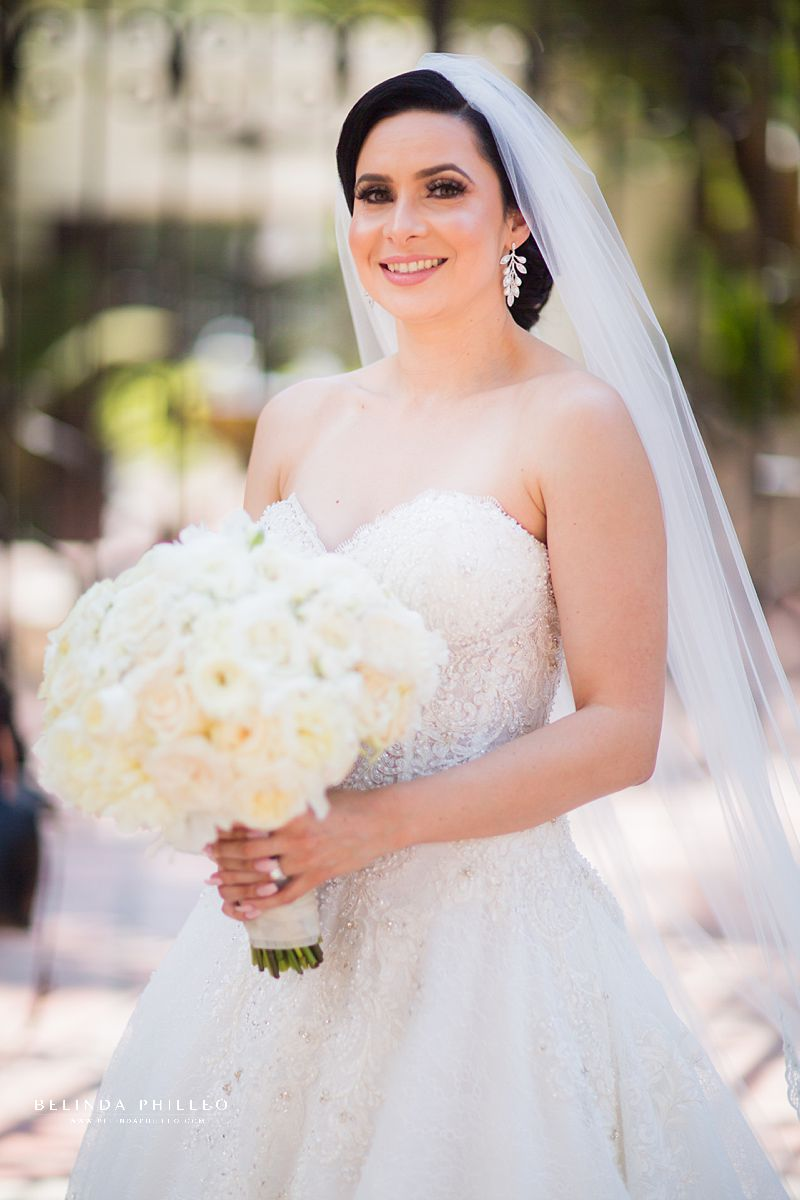 Bride portrait by Belinda Philleo at Los Angeles River Center & Gardens Wedding