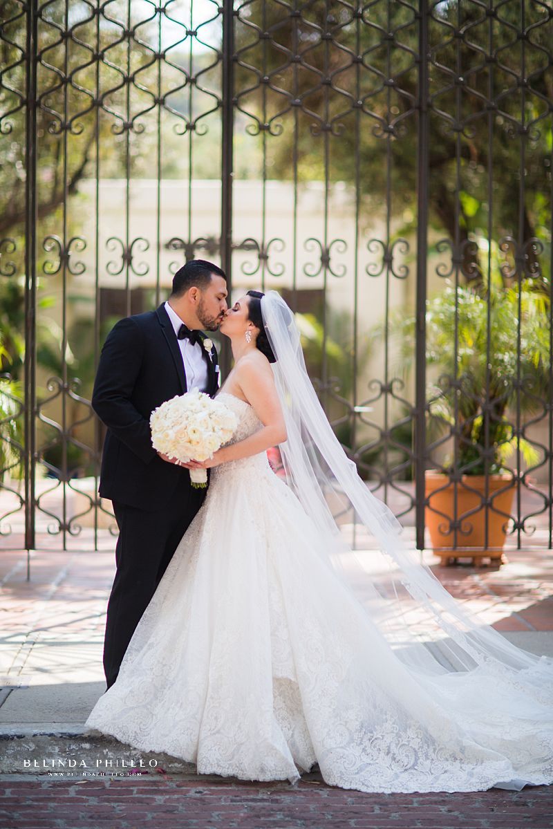 Bride and Groom portraits by Belinda Philleo at Los Angeles River Center and Gardens wedding in Los Angeles, Ca