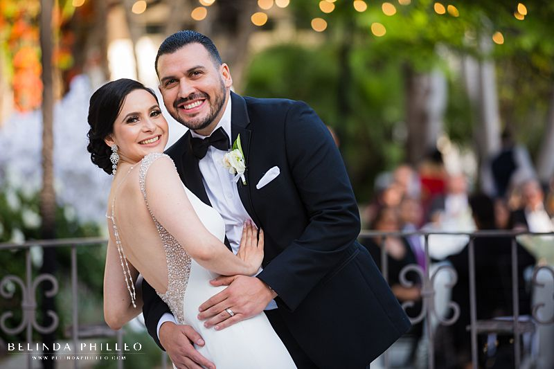 Bride and Groom first dance at Los Angeles River Center & Gardens Wedding