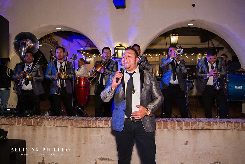 Banda La Consentida de Mazatlan performs at Los Angeles River Center & Gardens wedding