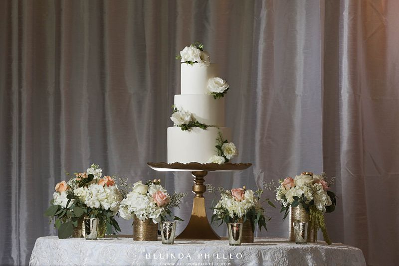 All white wedding cake from Simply Irresistible Cakes & Catering. Orange County catering services