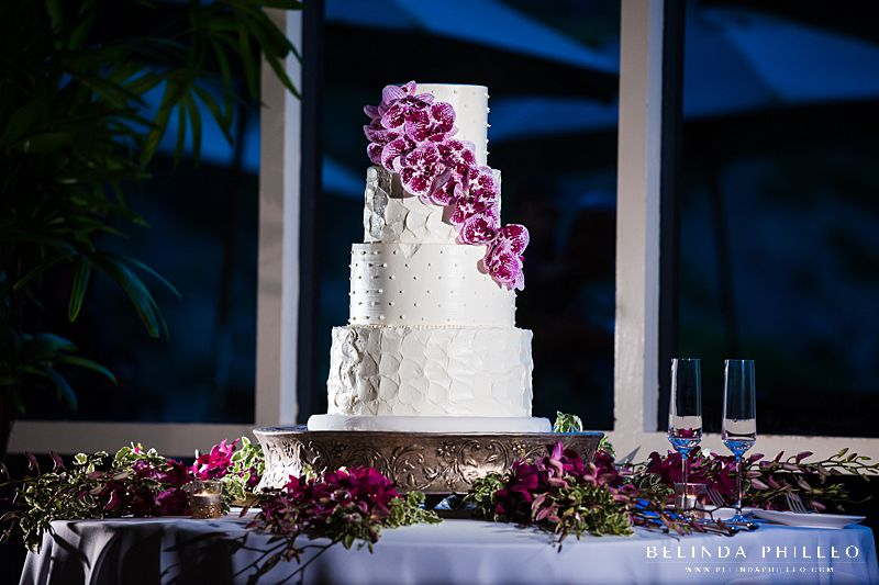Purple orchid wedding cake by Simply Irresistible Cakes & Catering