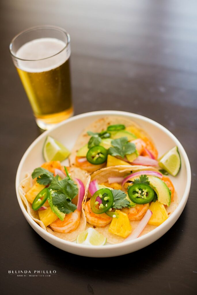 Easy dinner recipes. Shrimp tacos with pineapple recipe from Bon Appetit