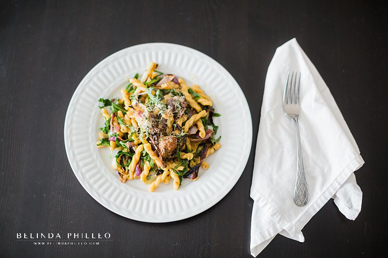 Easy dinner recipes for busy brides to be. Sausage pasta from Bon Appetit