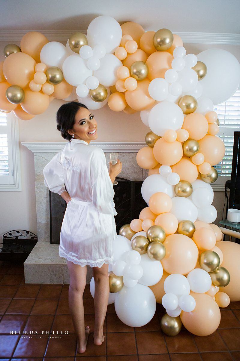 Balloon display for bridal getting ready photos by Floating Decor in Los Angeles, CA