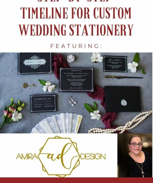 Step-by-step timeline for custom wedding invitation design