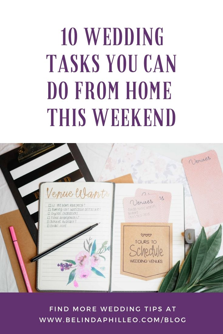 Header Image: 10 Wedding planning tasks you can do from home this weekend