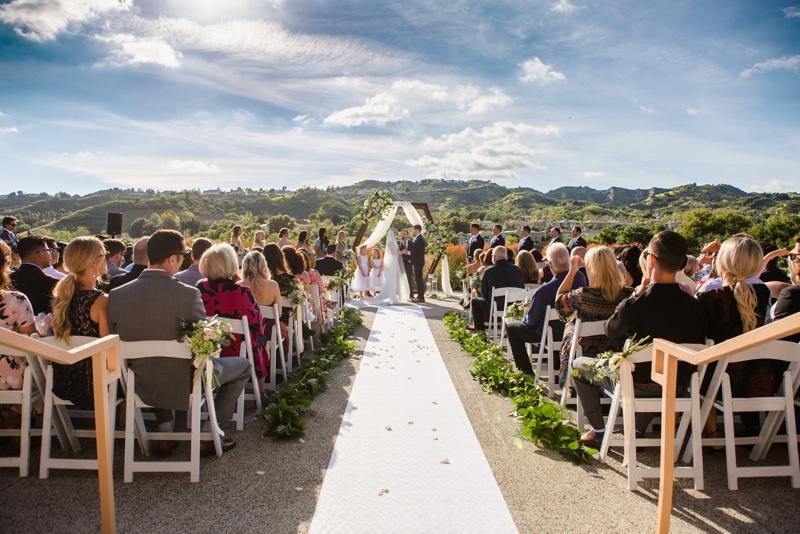 Coto De Caza Golf Club wedding with an incredible view