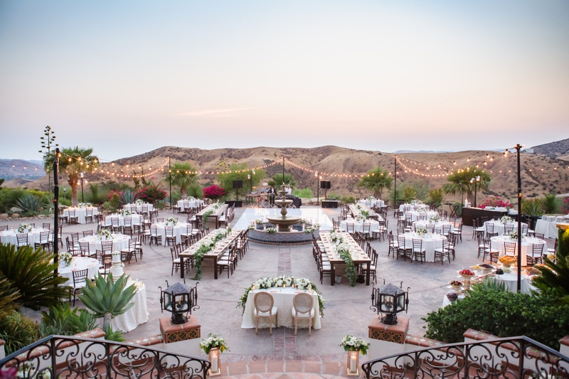 Outdoor reception venue with a view at Hummingbird Nest Ranch
