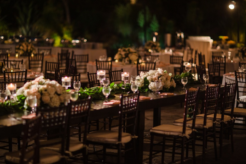 Evening outdoor reception at Hummingbird Nest Ranch