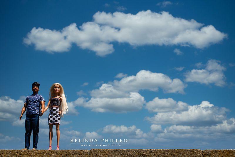 Creative Barbie and Ken engagement photos by Belinda Philleo