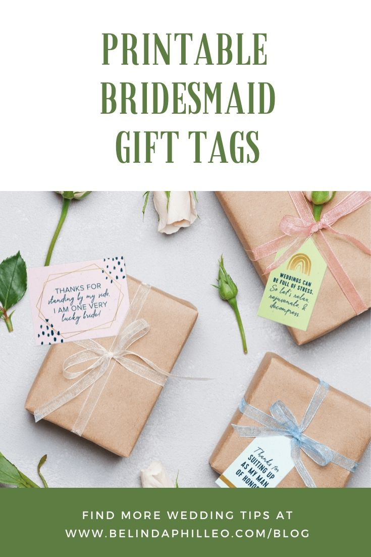 Free Printable Bridesmaid Gift Tags from Zola