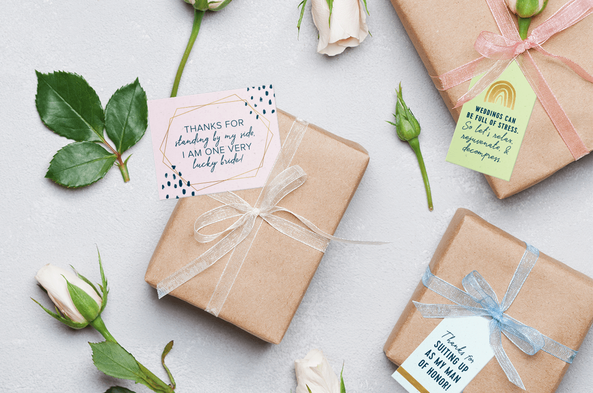 Printable bridesmaid gift tags