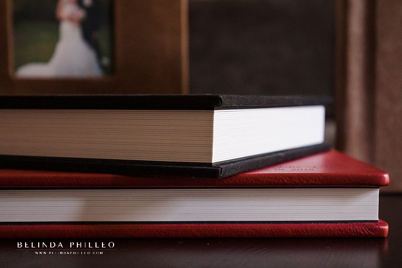 Professional wedding albums with linen or leather cover options