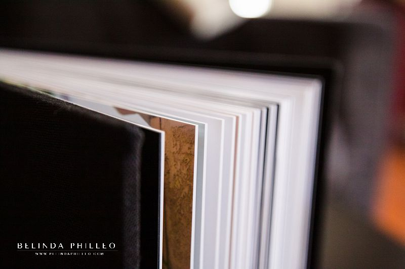 Professional wedding album with heirloom quality prints adhered to thick pages that offer durability and a high quality experience