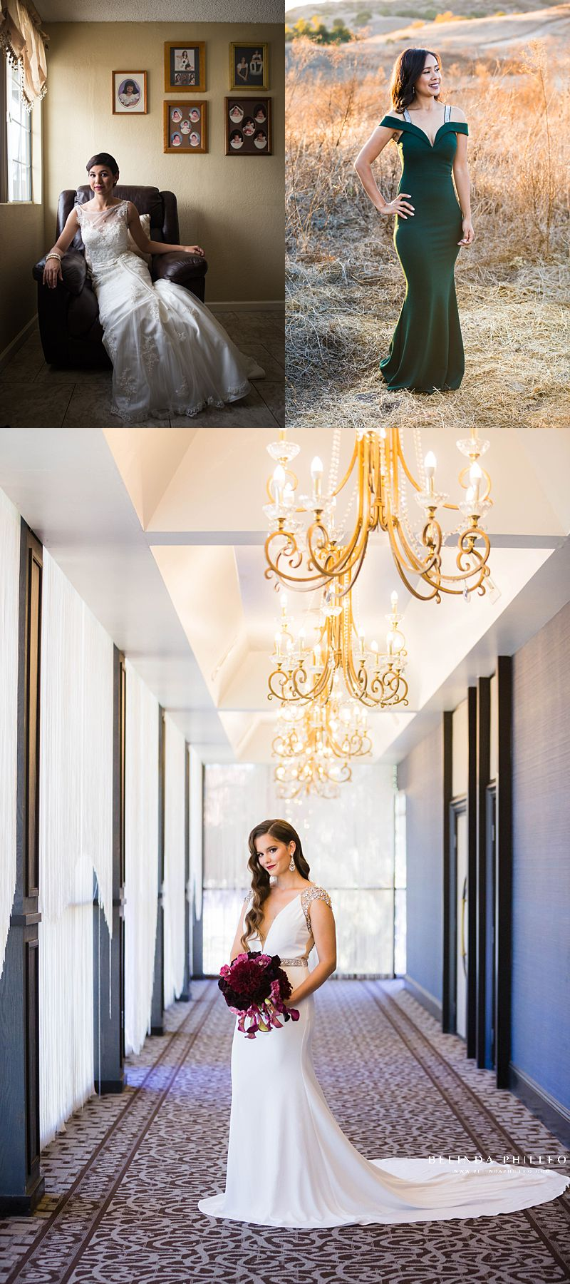 Posing tips for brides, creating curves and separation