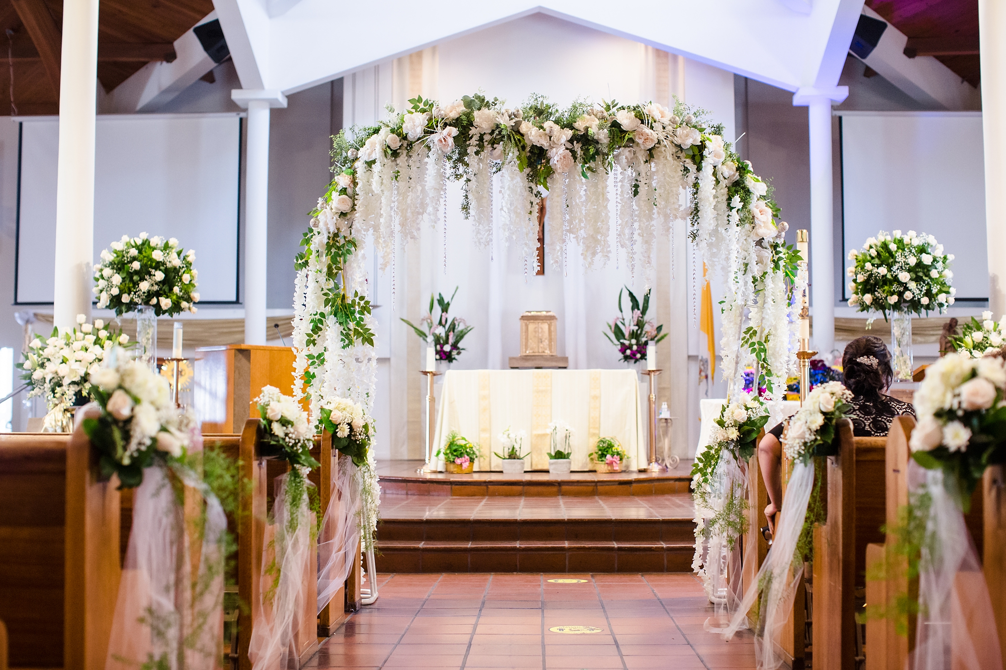 Whimsical Westminster Wedding with All White Florals
